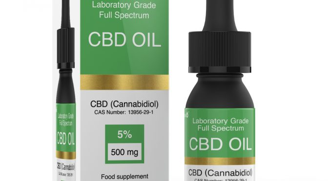 Cibidoil Laboratory Grade Full Spectrum CBD Oil 5_ 500mg 10ml Dropper Bottle With RBox