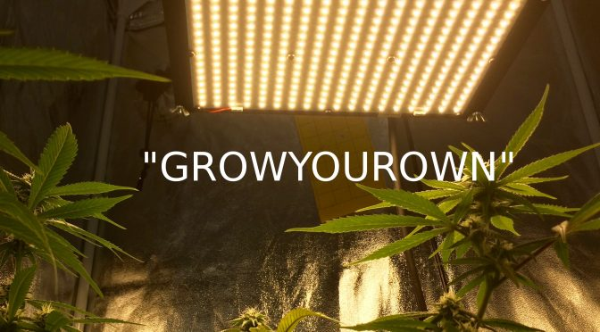 Growing indoors using LED